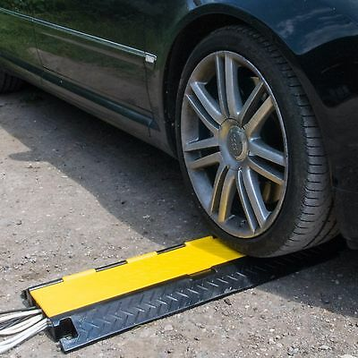 2, 3 & 5 Channel Speed Bump Cable Protector Ramp Guard Cover Rubber Heavy Duty