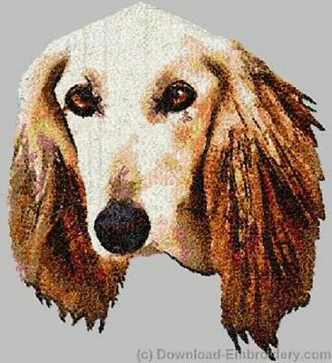 Large Embroidered Zippered Tote - Saluki DLE2512