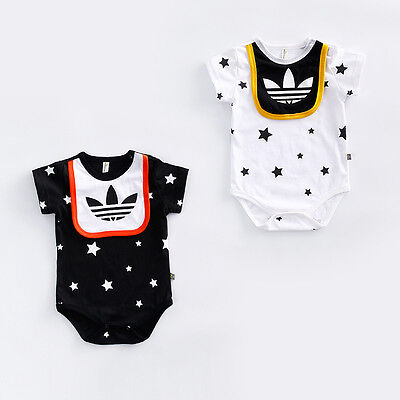 2017 Summer Newborn Baby Girl Boy Romper Bodysuit Jumpsuit Outfits Sport Clothes