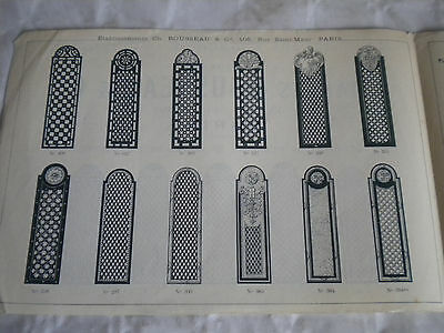 vintage catalogue 1925 Door plates art deco charles rousseau & Cie brass crystal