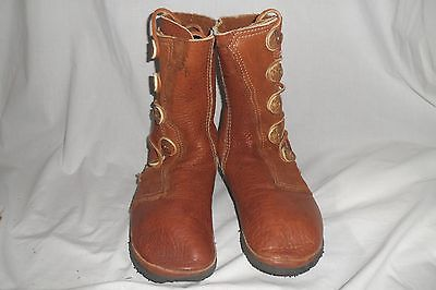 "Vintage Buffalo Skin 10"" Moccasin Boots Footloose Aspen Colo 5 Button SIZE 10-11"