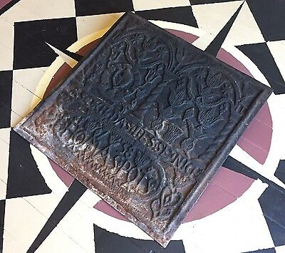 Antique Cast Iron Stove Plate Fire Back: Thomas Potts, Colebrookdale PA, 1758