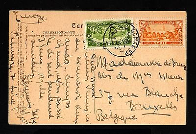 16171-SYRIA-OLD POSTCARD DAMAS to BRUSSELS (belgium) 1930.Syrie.Carte postale.