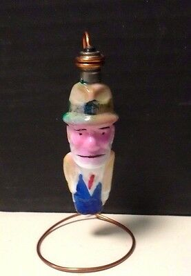 c-6 Dick Tracy Painted Milk Glass Christmas Light NON-Working Lot #JJ
