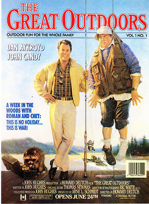 "1988 Dan Aykroyd John Candy photo ""The Great Outdoors"" Movie promo print ad"