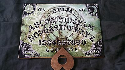 Classic Ouija Board Arcanum & Planchette ghost hunt A4 Wood Instructions Witch