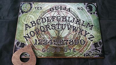 LARGE Wooden Classic Ouija Board Mystical Symbol & Planchette  & Instructions