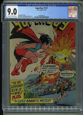 Superboy #167 CGC 9.0 (1970) Neal Adams Cover