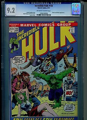 Incredible Hulk #150 CGC 9.2 (1972) Havok and Polaris