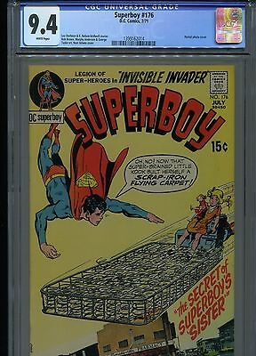 Superboy #176 CGC 9.4 (1971) Neal Adams Cover White Pages