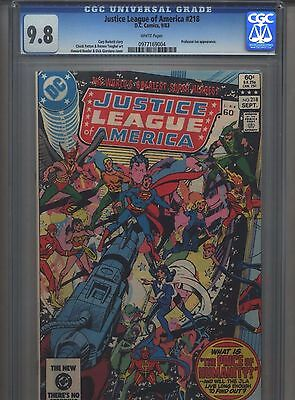 Justice League of America #218 CGC 9.8 (1983) White Pages