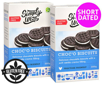 2 x      Simply Wize Choc'O Biscuits 250g