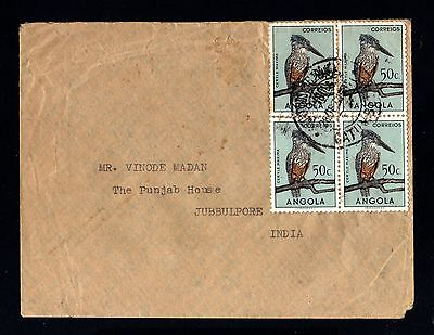 15043-ANGOLA-OLD COVER CATUMBELA to JUBBULPORE (india).1952.Portugal colonies.