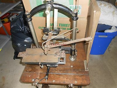 Antique Eaton & Glover New Century Pantograph Engraving Machine With Dies