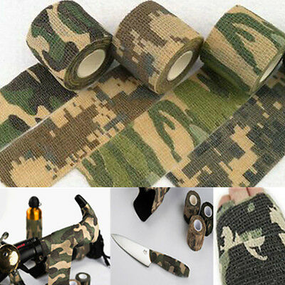 Army Camo Wrap Rifle Shooting Hunting Camouflage Protable Stealth Tape 4.5m