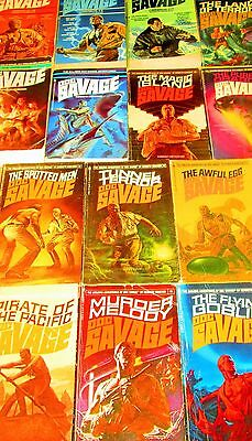 DOC SAVAGE by Kenneth Robeson Lot of 14 -PAPERBACKS - Omnibus, Land of Terror, M