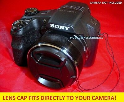 SNAP-ON FRONT LENS CAP DIRECT to CAMERA :Cyber-shot  SONY DSC-H300 DSCH300 H-300