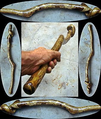 "30"" Hack Berry Wood Ceremonial Dwarf Mace Wood Orc Post Apocalyptic Tribal Club"