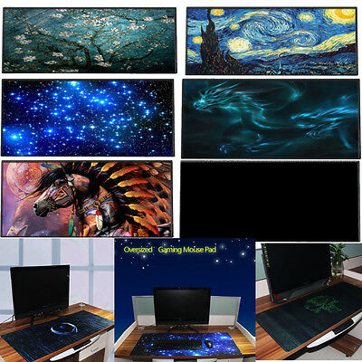 Prints Large Gaming Mouse Pad PC Computer Desktop Keyboard Mat Anti-Slip 90x40cm