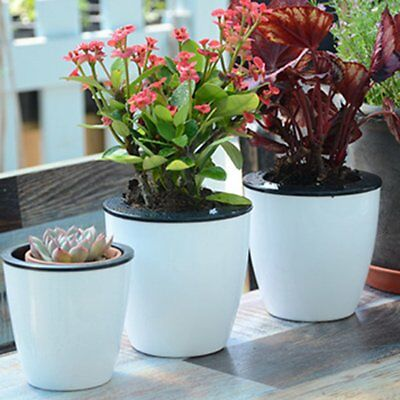 Creative Self-watering Plant Flower Pot Wall Hanging Plastic Planter Home GardGN