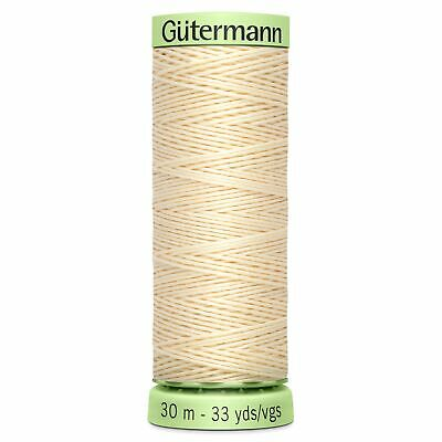 Gutermann Topstitch Thread - BROWNS CREAMS & YELLOWS - Extra Strong Thread 30m