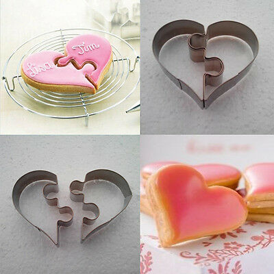 High Quality Diy Heart Cake Cookies Chocolate Mold Kitchen Mould Love Puzzles