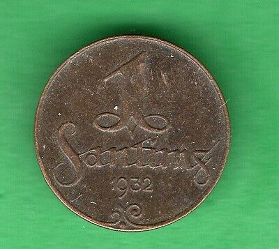 Latvia Lettland 1 Santims 1932 Coin 867