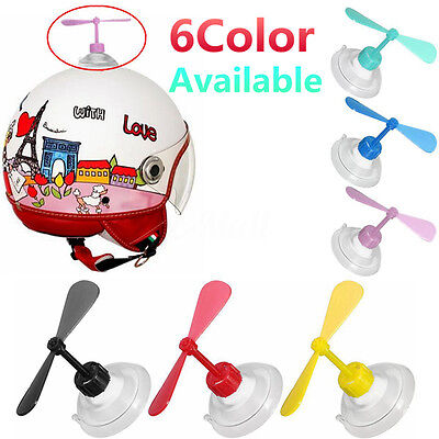 Universal Rubber Helmet Fan Style Decorate Accessories Suction Cup Propellers
