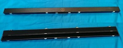 Rosetta Snooker Pool 1 piece leather look Cue Case nice lining hold accs/2 cues