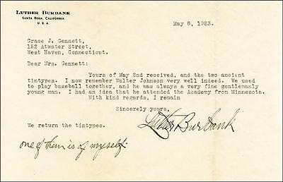 Luther Burbank - Typed Letter Signed