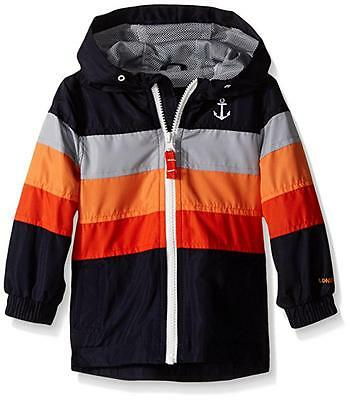 London Fog Big Boys Navy & Orange Poly Fleece Lined Jacket Size 14/16