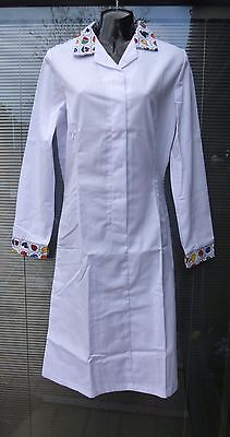 2X Alexandra White Food Lab Technician Catering Chef Baker Industry Dress D3 FD3