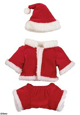 Ganz Webkinz Santa outfit Suit New in Package sealed code