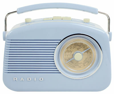 1950's 60's Diner Retro Design Round Dial Table Counter Radio - Baby Blue