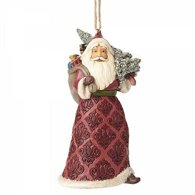 Jim Shore Heartwood Creek Victorian Santa Christmas Hanging Ornament 4058757