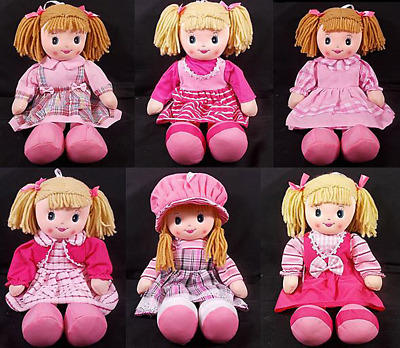 """Rag Doll baby girl RAGGY traditional gift old fashioned large 50cm 20"""""""