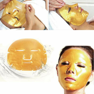 3x Collagen Crystal Face Masks Anti Ageing Skin Care Wrinkle Pad Facial Eye Gold