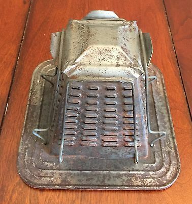 Antique Wood Stove Top Bread Toaster, Vintage Tin Toaster, 4 Slices