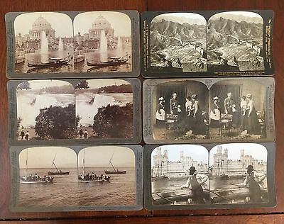 Six (6) Antique Stereoscope (StereoView, 3D Viewer Cards) Six Ct Circa 1901-1903