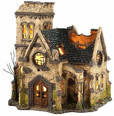 Department 56 Halloween Village The Haunted Church Lighted Building 4036592 New