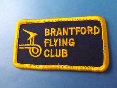 Brantford Flying Club Canada Patch Vintage Member Airplane Collector