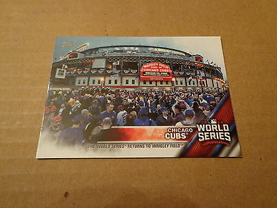 2016 Topps Chicago Cubs World Series Champions WS RETURNS TO CHICAGO Card #WS-6