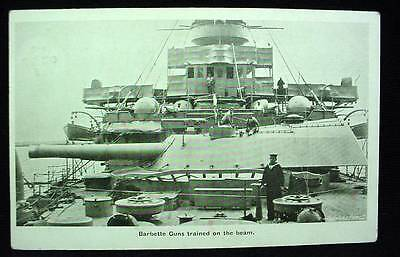 Pre WW1 Postcard Barbette Guns Trained on the Beam Navy Destroyer 1905