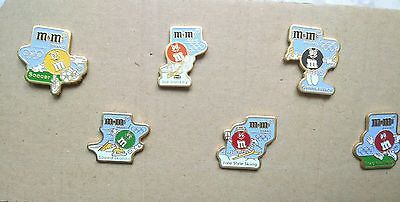 6~Vintage M&Ms Mars Olympic Pins Undated~~6 Different Sports Great Condition