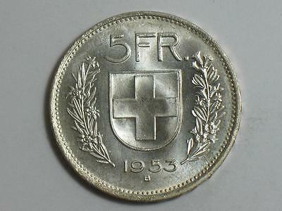 1953-B Switzerland 5 Francs - Swiss Silver Coin