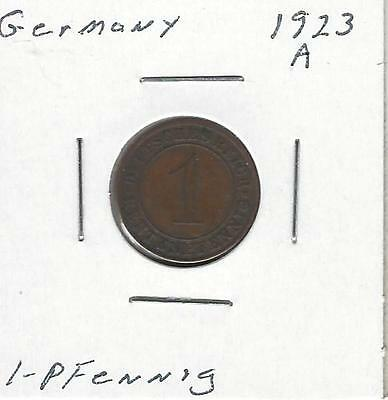 Germany, Weimar Republic Rentenpfennig, 1923 A