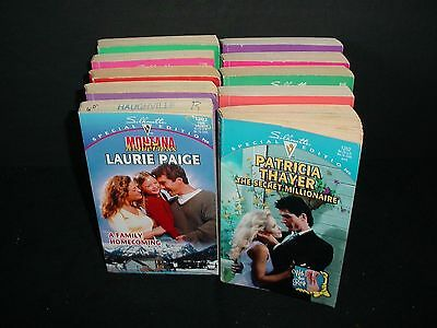 Lot of 10 Silhouette Special Edition Paper Back Books Pb Novels Romance
