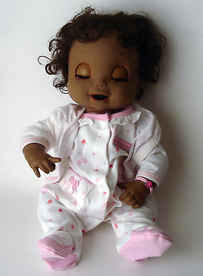 """Baby Alive Doll Hasbro 2006 Soft Face Talking Black African American 18"""""""