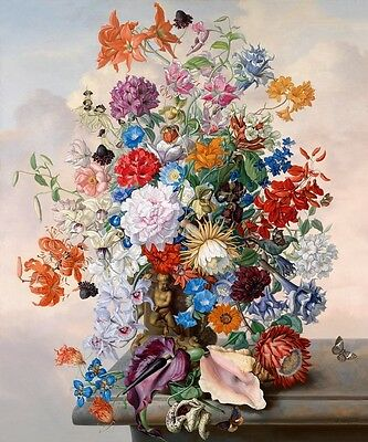 Home deco wall art Oil painting Still Life Floral Picture printed on canvas L068