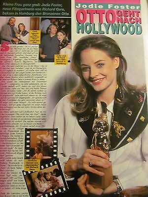 Jodie Foster, Full Page Vintage Clipping, Foreign Magazine